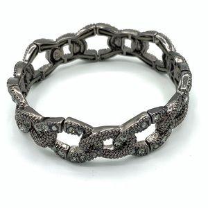 Lia Sophia Kiam Family Hematite Stretch Bracelet